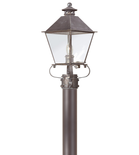 Troy Exterior Lighting P9132CI Montgomery 1 Light Exterior Medium Post Mount Lantern in Charred Iron