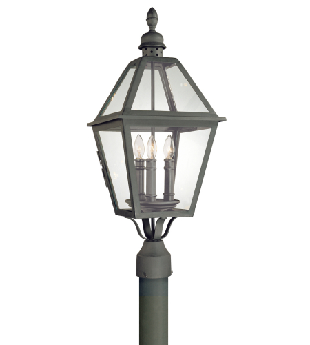 Troy Exterior Lighting P9625NB Townsend 3 Light Exterior Large Post Mount Lantern in Natural Bronze