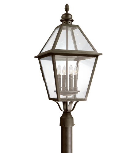 Troy Exterior Lighting P9626NB Townsend 4 Light Exterior Xlarge Post Mount Lantern in Natural Bronze