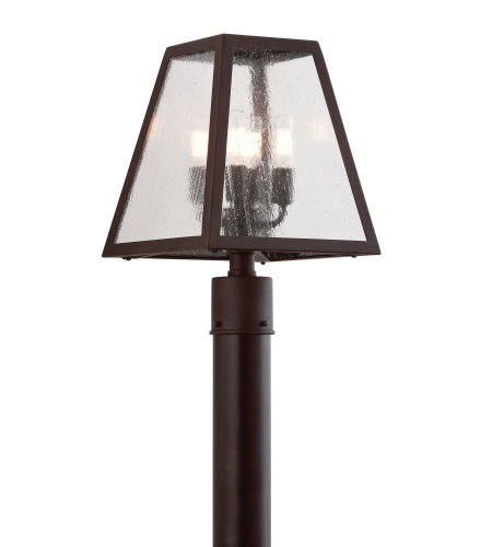 Troy Exterior Lighting PCD3435 Amherst 4 Light Exterior Large Post Mount Lantern in River Valley Rust