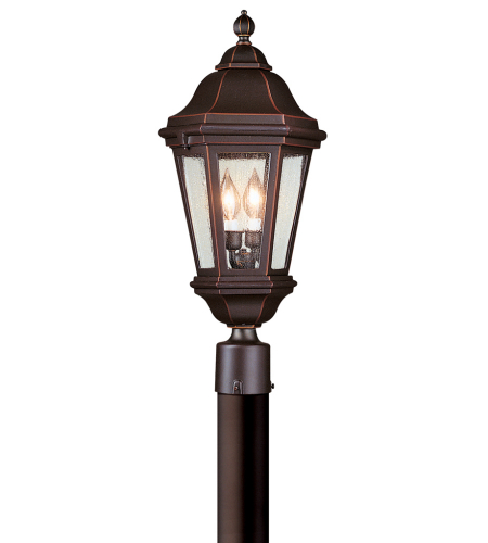 Troy Exterior Lighting PCD6832ABZ Verona 2 Light Exterior Large Post Mount Lantern in Antique Bronze