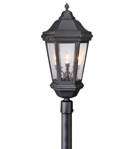 Troy Exterior Lighting PCD6835MB Verona 3 Light Exterior Xlarge Post Mount Lantern in Matte Black