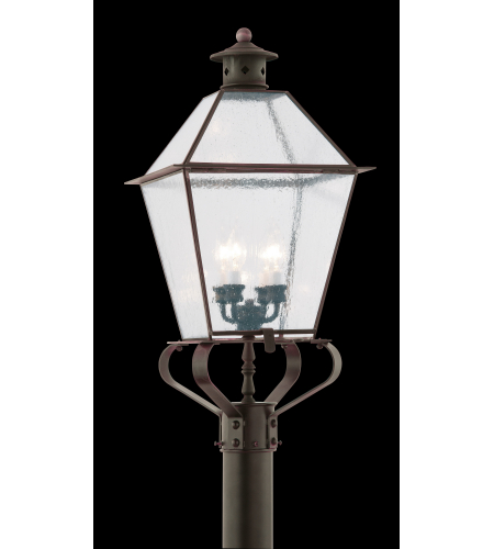 Troy Exterior Lighting PCD8961NR Montgomery 4 Light Exterior Xxlarge Post Mount Lantern in Natural Rust