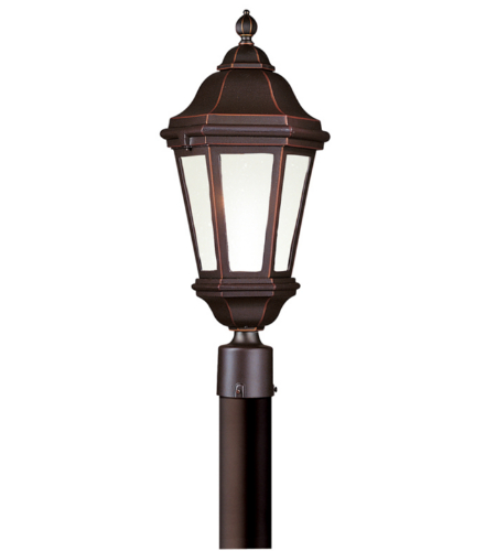 Troy Exterior Lighting PFCD6832ABZ Verona 1 Light Exterior Large Post Mount Lantern in Antique Bronze