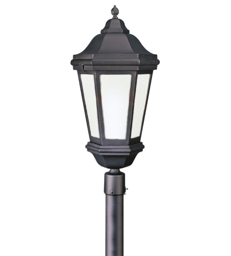 Troy Exterior Lighting PFCD6835MB Verona 3 Light Exterior Xlarge Post Mount Lantern in Matte Black