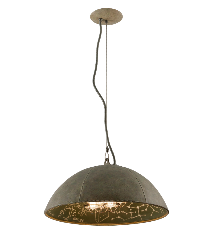 Troy Lighting F3654 Relativity 4 Light Pendant In Salvage Zinc With Chalkboard | FoundryLighting.com  sc 1 st  Foundry Lighting & Troy Lighting F3654 Relativity 4 Light Pendant In Salvage Zinc With ...