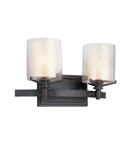 Troy Lighting B1712FR Arcadia 2 Light Bath in French Iron