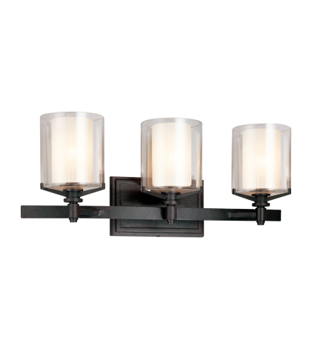 Troy Lighting B1713FR Arcadia 3 Light Bath in French Iron