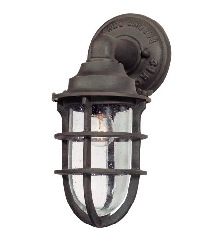 Troy Lighting B1865NR Wilmington 1lt Wall Lantern Small