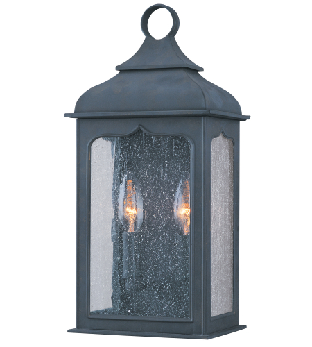 Troy Lighting B2010CI Henry Street 2 Light Pocket Lantern Small in Colonial Iron