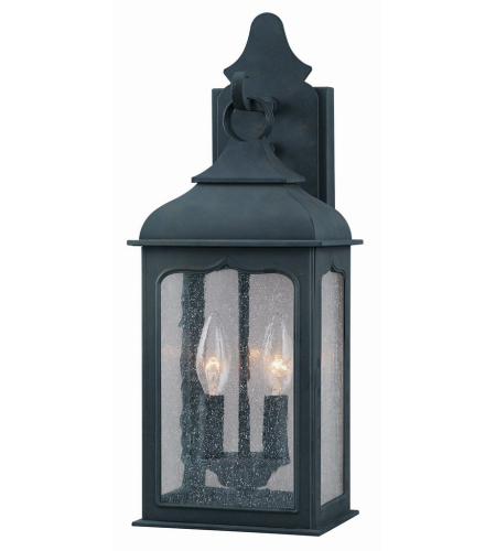 Troy Lighting B2011CI Henry Street 2 Light Wall Lantern Small in Colonial Iron