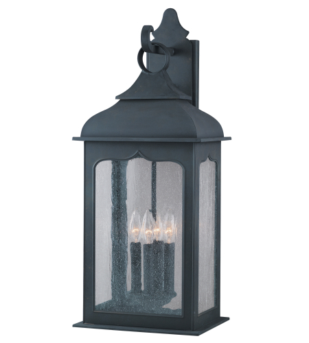 Troy Lighting B2013CI Henry Street 4 Light Wall Lantern Large in Colonial Iron