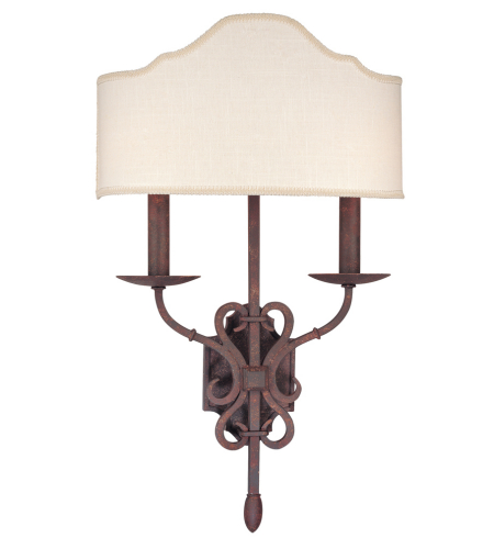 Troy Lighting B2522wi Rustic 2 Light Seville Wall Sconce In Weathered Iron