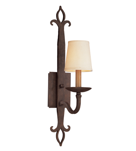 Troy Lighting B2711 Rustic 1 Light Lyon Wall Sconce In Burnt Sienna