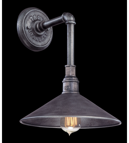 Troy Lighting B2771 Industrial 1 Light Toledo Wall Lantern Small In Old Silver