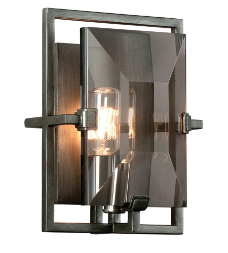 Troy Lighting B2822 Industrial 1 Light Prism Wall Sconce In Graphite
