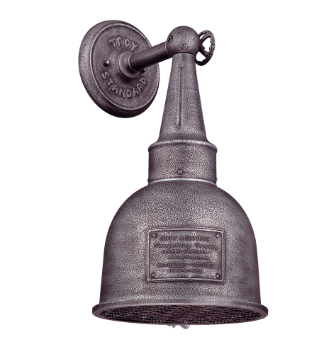 Troy Lighting B2942 Industrial 1 Light Raleigh Wall Lantern Medium In Old Silver