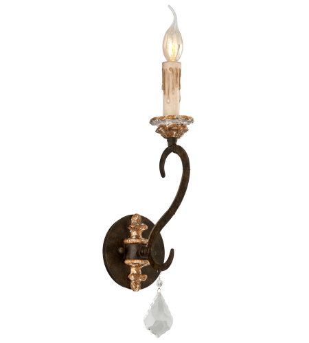 Troy Lighting B3511 Bordeaux 1 Light Wall Sconce in Parisian Bronze