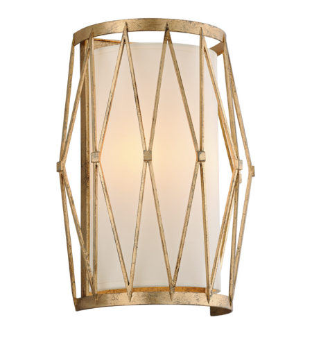Troy Lighting B4862 Calliope 2 Light Wall Sconce in Rustic Gold Leaf