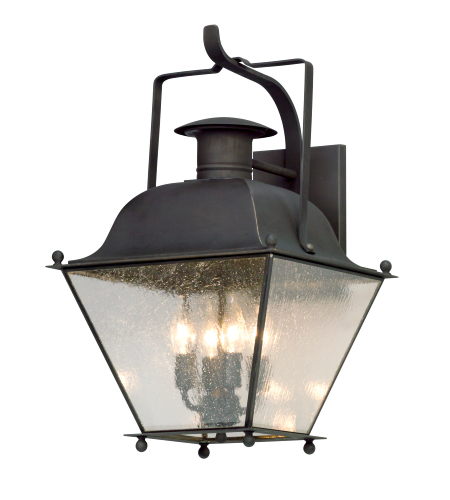 shop for troy lighting b5073ci adams 1 light outdoor wall lantern in