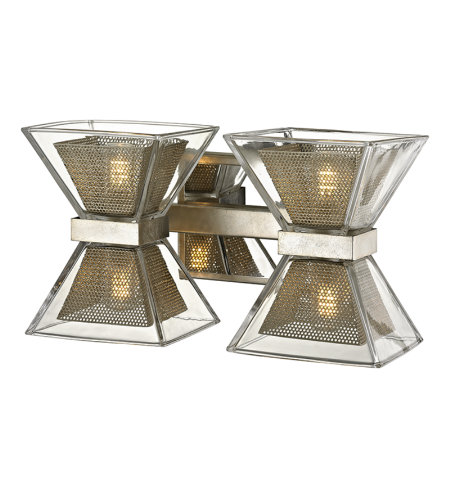 Troy Lighting B5812 Expression 4 Light Vanity In Silver Leaf