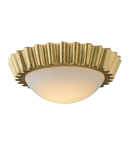 Troy Lighting C5930 Reese 1 Light Flush Mount In Gold Leaf