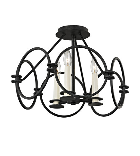 Troy Lighting C5953 Juliette 3 Light Flush Mount In Country Iron