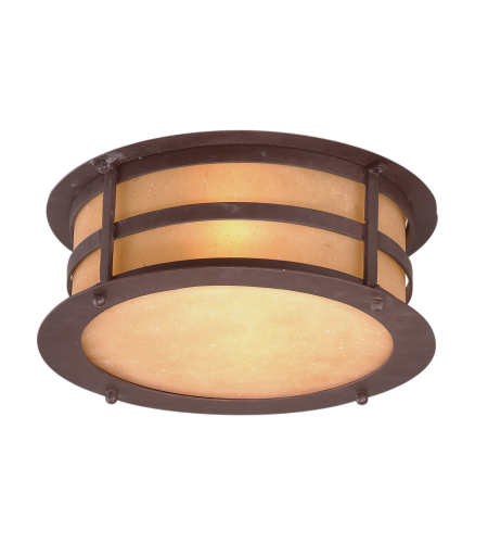 Troy Lighting C9251NB Aspen 2 Light Flush in Natural Bronze