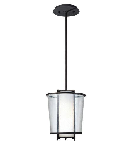 Troy Lighting F1357FBZ Bennington 1 Light Pendant in Forged Bronze