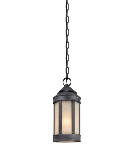 Troy Lighting F1467AI andersons Forge 1 Light Hanging Lantern Medium in Antique Iron