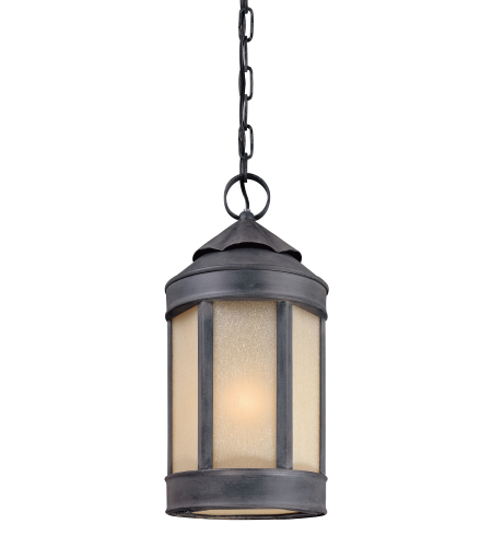 Troy Lighting F1468AI andersons Forge 1 Light Hanging Lantern Large in Antique Iron