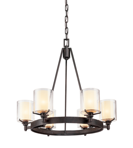 Troy Lighting F1716FR Arcadia 6 Light Chandelier in French Iron