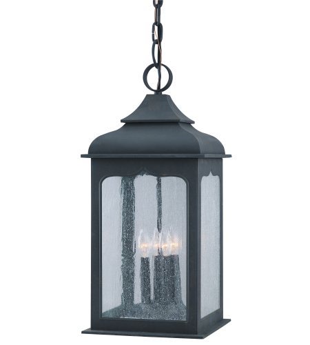 Troy Lighting F2018CI Henry Street 4 Light Hanging Lantern Large in Colonial Iron