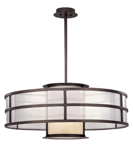 Troy Lighting F2737 Modern 2 Light Discus Pendant Large In Graphite