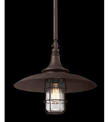 Troy Lighting F3229 Allegheny 1 Light Hanger Large in Centennial Rust