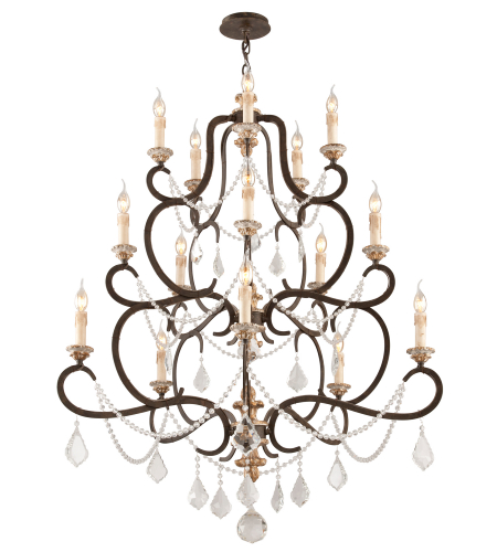 Troy Lighting F3517 Bordeaux 15 Light Chandelier Large in Parisian Bronze