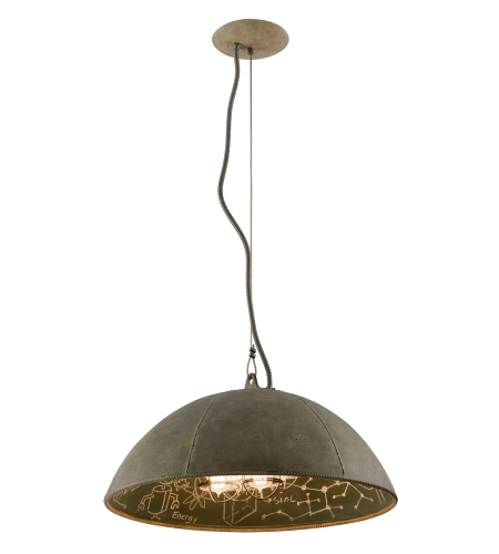Troy Lighting F3654 Relativity 4 Light Pendant In Salvage Zinc With Chalkboard
