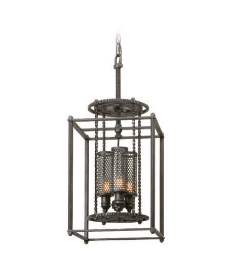 Troy Lighting F3833 Atlas 3 Light Pendant Small in Aged Pewter