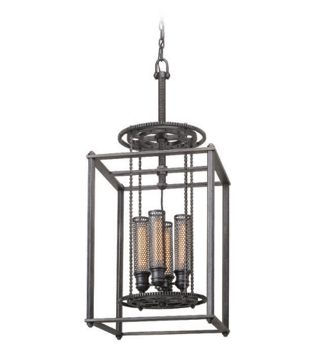 Troy Lighting F3834 Atlas 4 Light Pendant Medium in Aged Pewter
