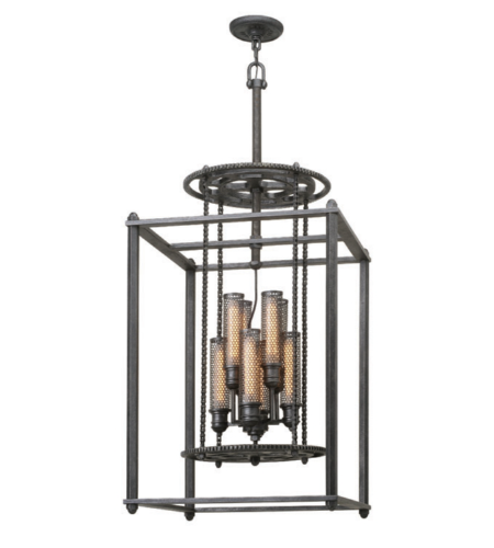 Troy Lighting F3838 Atlas 8 Light Pendant Large in Aged Pewter