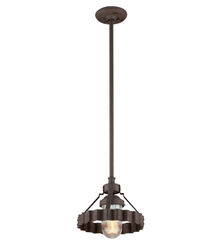 Troy Lighting F4243 Canary Wharf 1 Light Pendant In Burnt Sienna