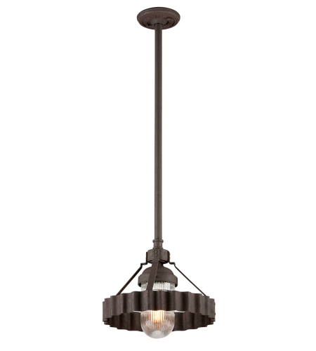 Troy Lighting F4244 Canary Wharf 1 Light Pendant In Burnt Sienna