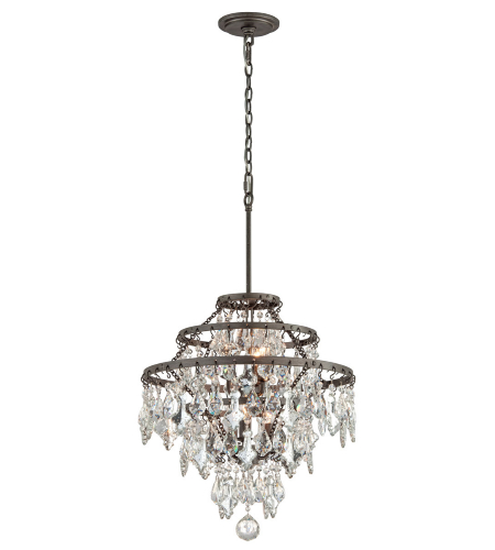 Troy Lighting F4316 Classic 6 Light Meritage Chandelier Medium In Graphite