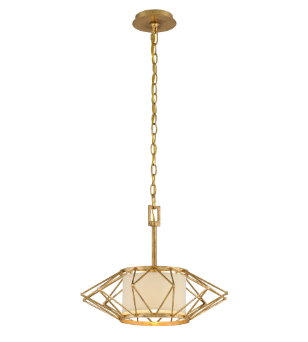 Troy Lighting F4863 Calliope 1 Light Pendant Small in Rustic Gold Leaf