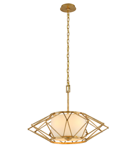 Troy Lighting F4864 Calliope 4 Light Pendant Medium in Rustic Gold Leaf