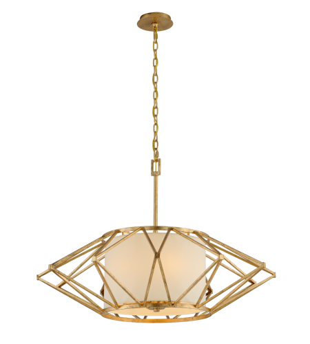 Troy Lighting F4865 Calliope 6 Light Pendant In Rustic Gold Leaf