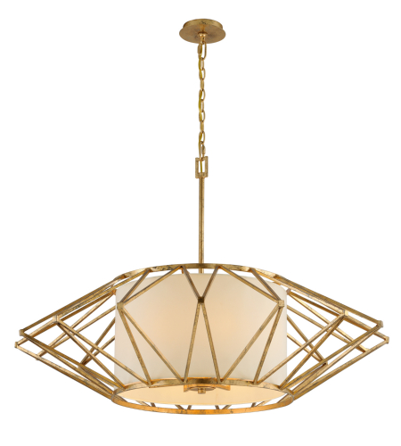 Troy Lighting F4866 Calliope 8 Light Pendant In Rustic Gold Leaf