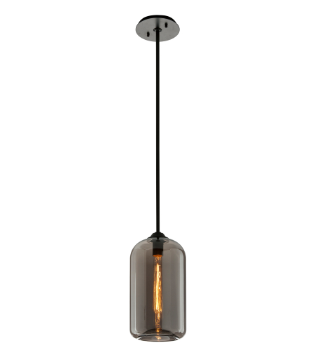 Troy Lighting F5581 District 1 Light Pendant In Satin Black