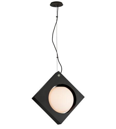 Troy Lighting F5602 Conundrum 1 Light Pendant In Textured Black