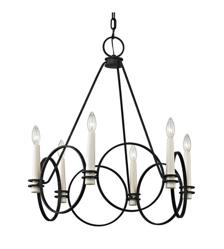 Troy Lighting F5956 Juliette 6 Light Chandelier In Country Iron
